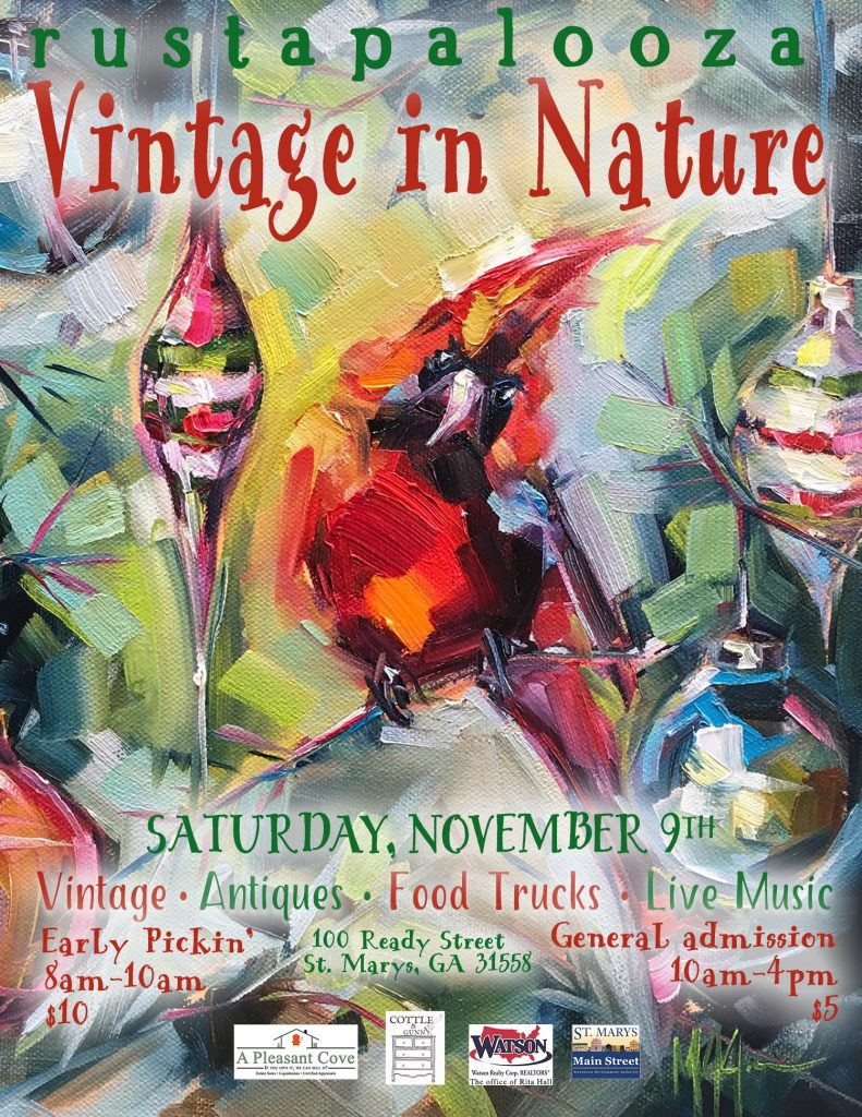show information for rustapalooza vintage in nature november 9, 2019 market